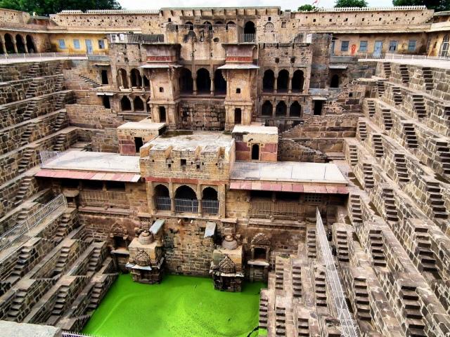 Chand Baori trepp-kaev Indias