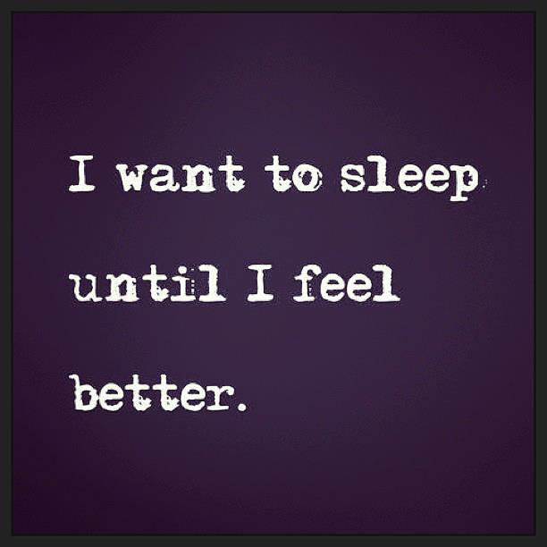 i want to sleep...